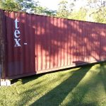 Before any exterior painting on the shipping container.
