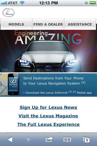 lexus-mobile-site
