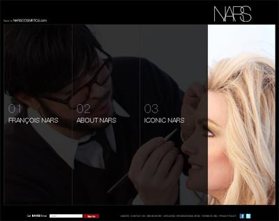 Nars cosmetics new Web site