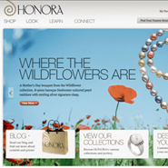 Honora pearls' recently-launched Web site