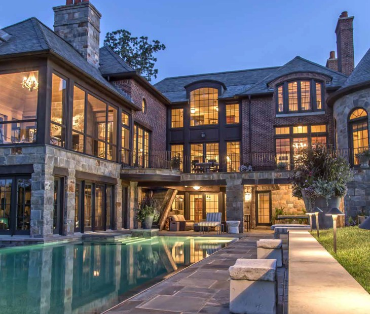 Lake Michigan Luxury Homes: Luxurious French Manor Overlooking Turtle Lake In