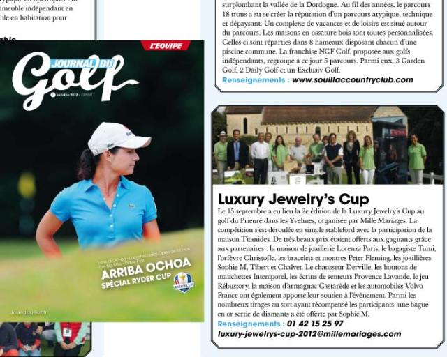 LE JOURNAL DU GOLF - LUXURY JEWELRY'S CUP 2012
