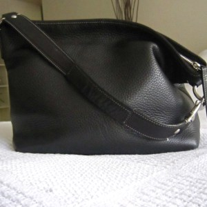 9448ca98a050 Coach Black Pebble Leather Hobo Bag-1