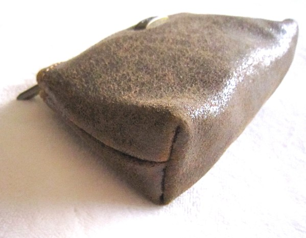 Ferchi Brown Leather Accessories Pouch-1