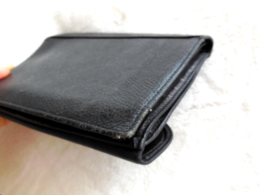 Paco Rabanne Black Leather Tri-Fold Wallet-7