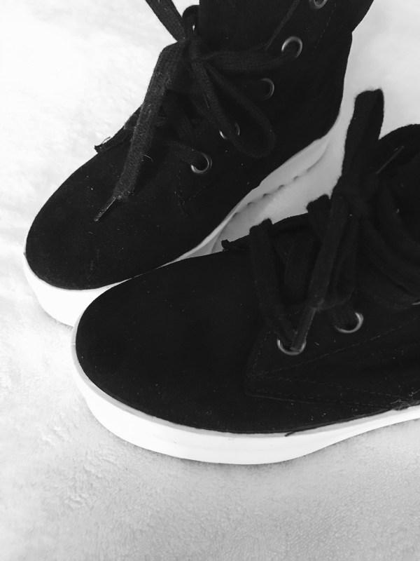 Shellys London Black Suede Murci-Platform Sneakers-2