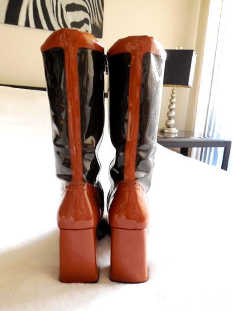 Stephanie De Raucourt Patent Leather Boots-3