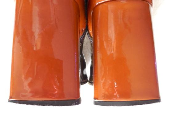 Stephanie De Raucourt Patent Leather Boots-4