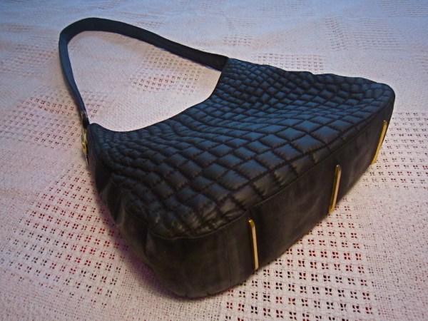 Valentino Orlandi Black Quilted Hobo Bag-1