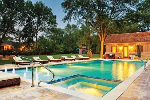 6 Pool Deck & Patio Design Ideas - Luxury Pools + Outdoor ... on Pool Deck Patio Ideas  id=91481