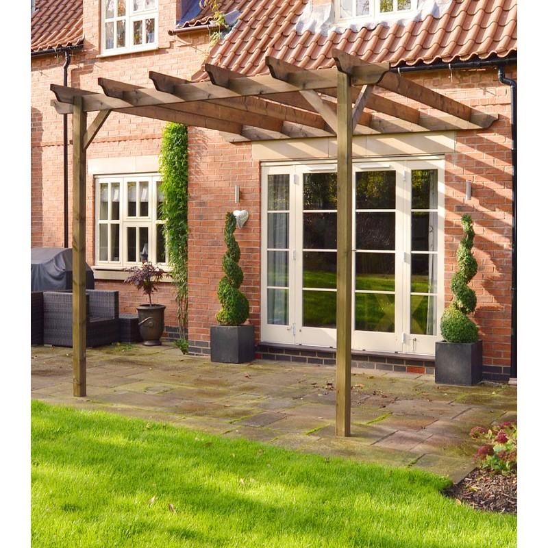 Wooden Garden Lean To Pergola 36M X 36M