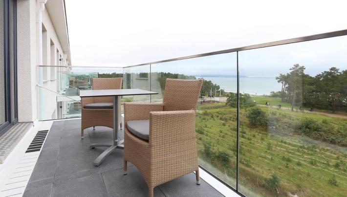 Dormero Strandhotel Blick vom Balkon