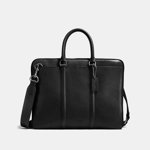 porte documents coach luxe noir homme