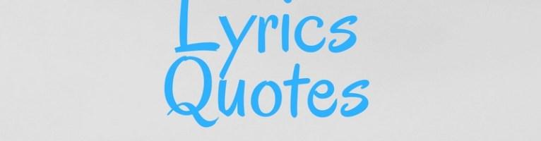 Lyrics Quotes