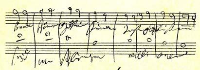 Autographe de la Neuvième symphonie