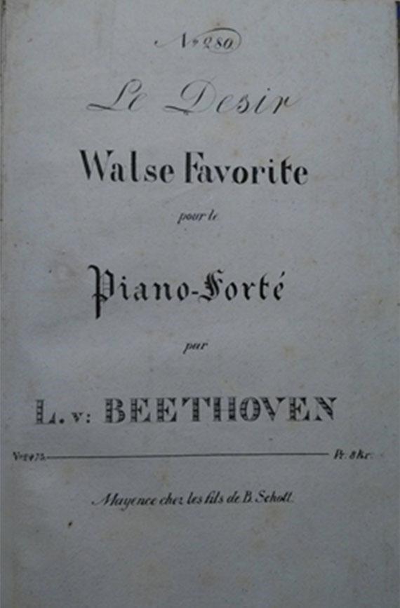 Michel Rouch: Sehnsuchtswalzer Anhang 14 n° 1 de « Beethoven »