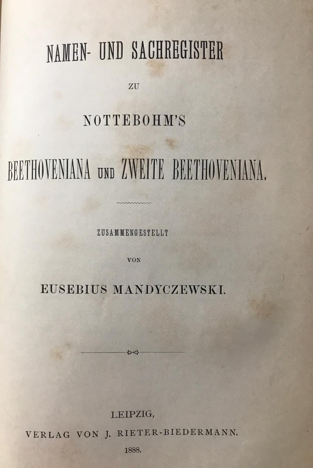 Gustav Nottebohm – Beethoveniana