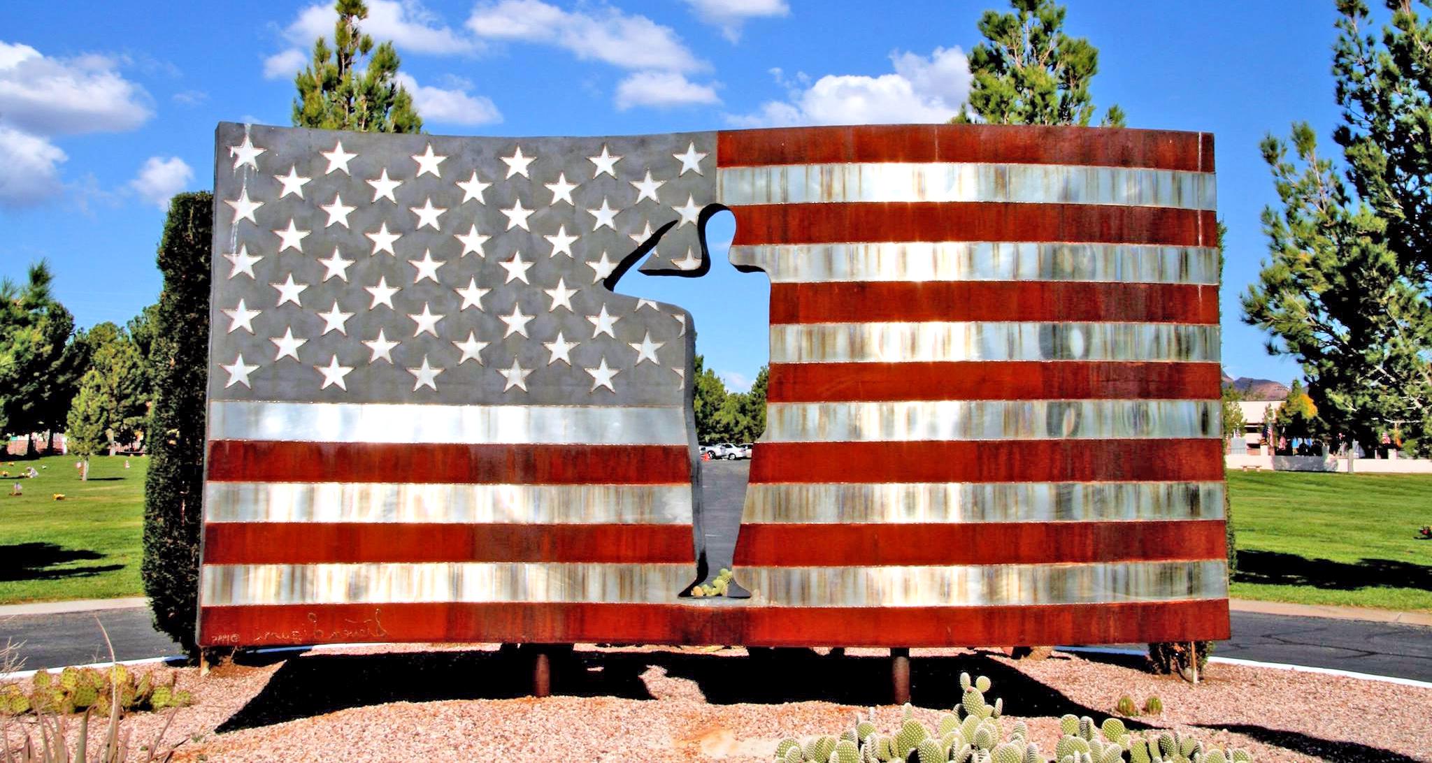 Powder Coated American Flag Memorial