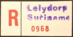 Aantekenstrook Lelydorp Suriname