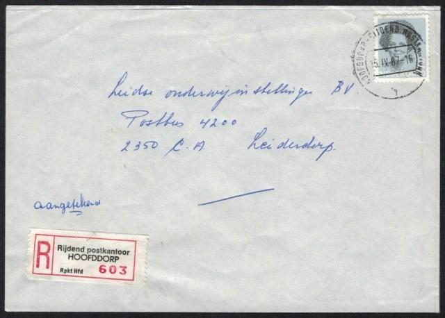 Rijdend postkantoor Hoofddorp