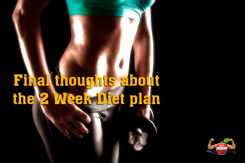final thoughts about the 2 week diet plan