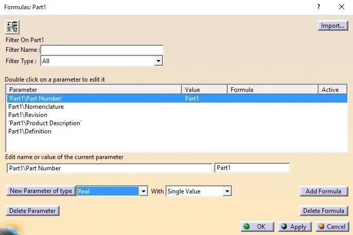 Dica Catia V5 - Criação de Parâmetros