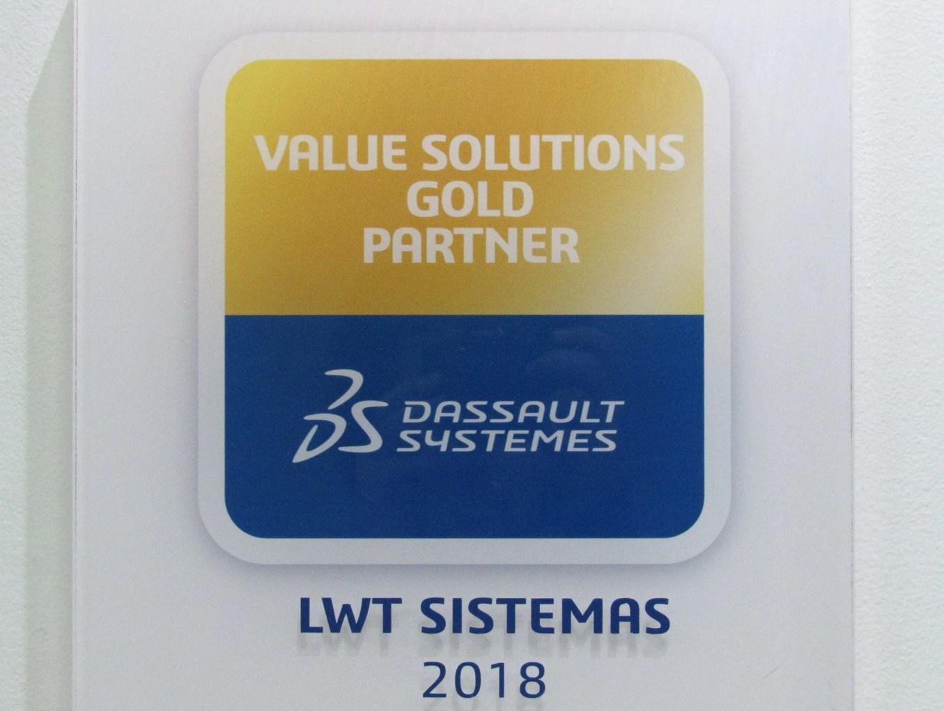 A LWT Sistemas conquistou o prêmio de parceiro GOLD da Dassault Systemès