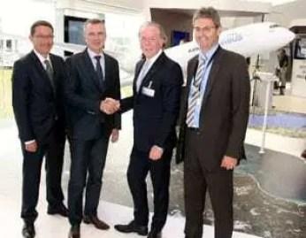 Cadeia de produção de peças do A350 XWB da Airbus com Stratasys