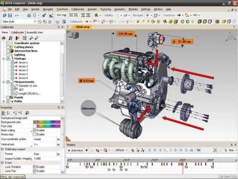 Programa de Ilustração 3D com Motor de carro desenhado. Continue lendo nosso post.