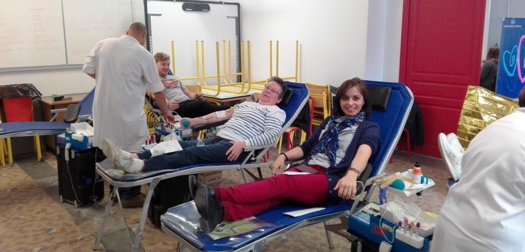 04-05-17 : Don du sang au Lycée de l'Abbaye !