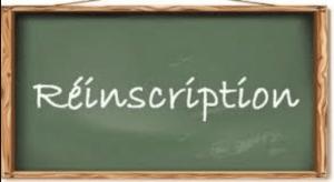 Read more about the article Procédure de réinscription des élèves
