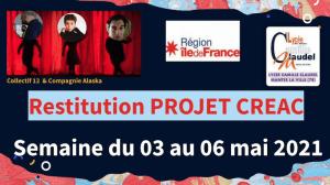 """Read more about the article CREAC 2021 (contrat régional d'éducation artistique et culturelle). """"UN MONDE A SOI : PASSER PAR LA SCENE ET TROUVER SON CHEMIN !"""""""