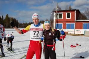 Skidgymnasiemästare 2014 Jonathan Ström och Jonna Sundling