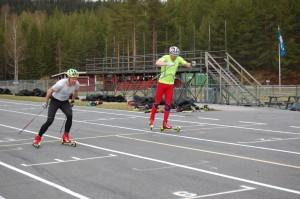 Marcus Fredriksson & Marcus Grate spurtar