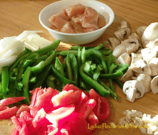 Ingredients for Skillet Cacciatore