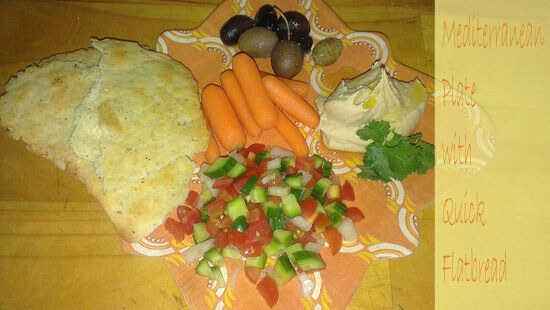 Mediterranean plate with flatbread