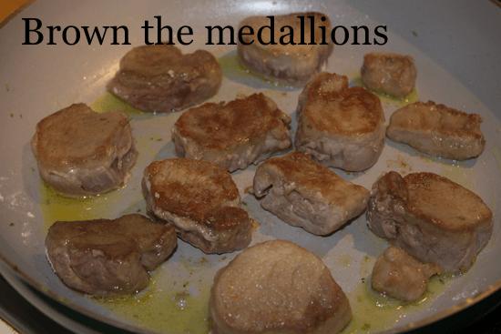 pan braised pork tenderloins in gravy