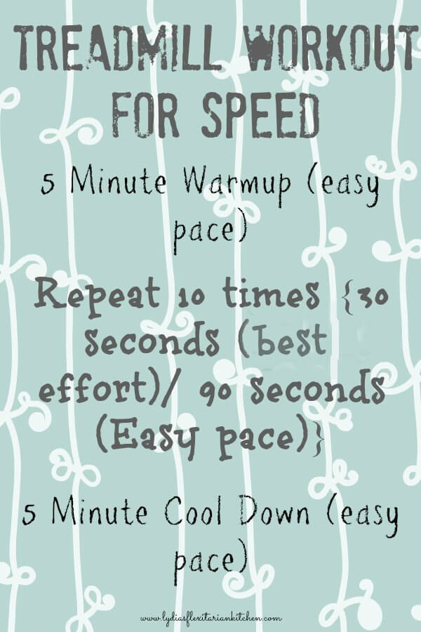 treadmill workout for speed
