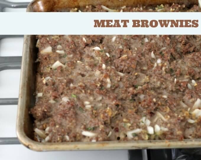 Meat Brownies (Oven Baked Sliders) ~ Lydia's Flexitarian Kitchen