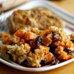 Butternut squash, apple and cranberry gratin ~ Lydia's Flexitarian Kitchen