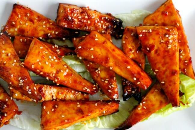 """Korean BBQ Tofu """"Wings"""""""