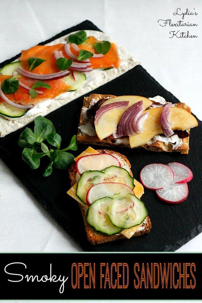 Smoky Open Face Sandwiches~ #RecipeReDux ~ Lydia's Flexitarian Kitchen