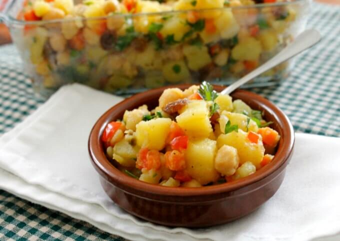 Moroccan Potato Salad ~ Lydia's Flexitarian Kitchen