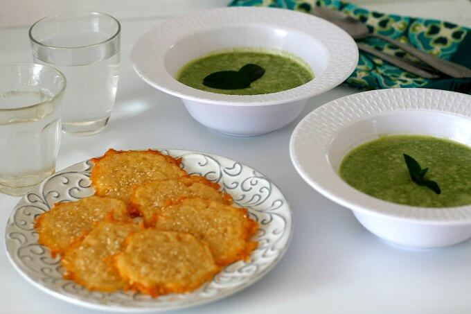 Minted Pea Soup ~ Lydia's Flexitarian Kitchen