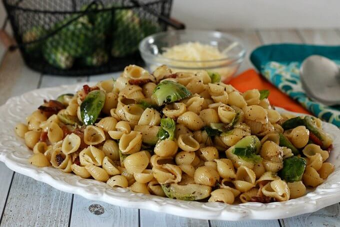 Skillet Sprouts and Shells