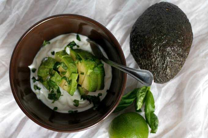 Savory Avocado and Lime Yogurt