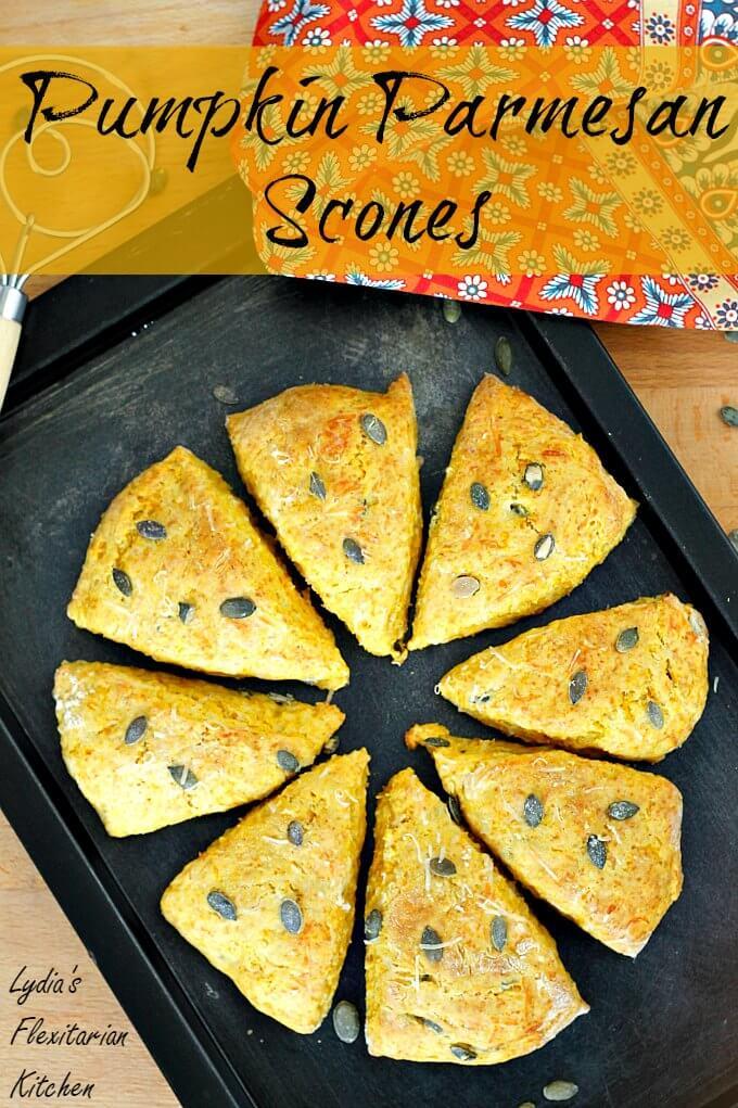 Pumpkin Parmesan Scones ~ Nigella Lawson ~ Lydia's Flexitarian Kitchen