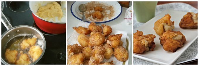 Bunuelos de Viento ~ Wind Fritters for All Saints' Day (or whenever) ~ Lydia's Flexitarian Kitchen