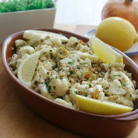 Cauliflower with Olives and Breadcrumbs