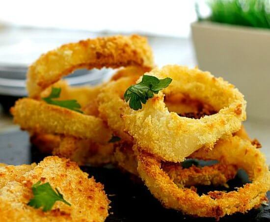 Oven Fried Onion Rings and Other Veggies